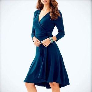 LP Blue Wrap Dress
